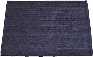 Fujiwara Pakistan ホテル仕様 綿100% バスマット 厚地タイプ (ネイビー, 45×60cm)