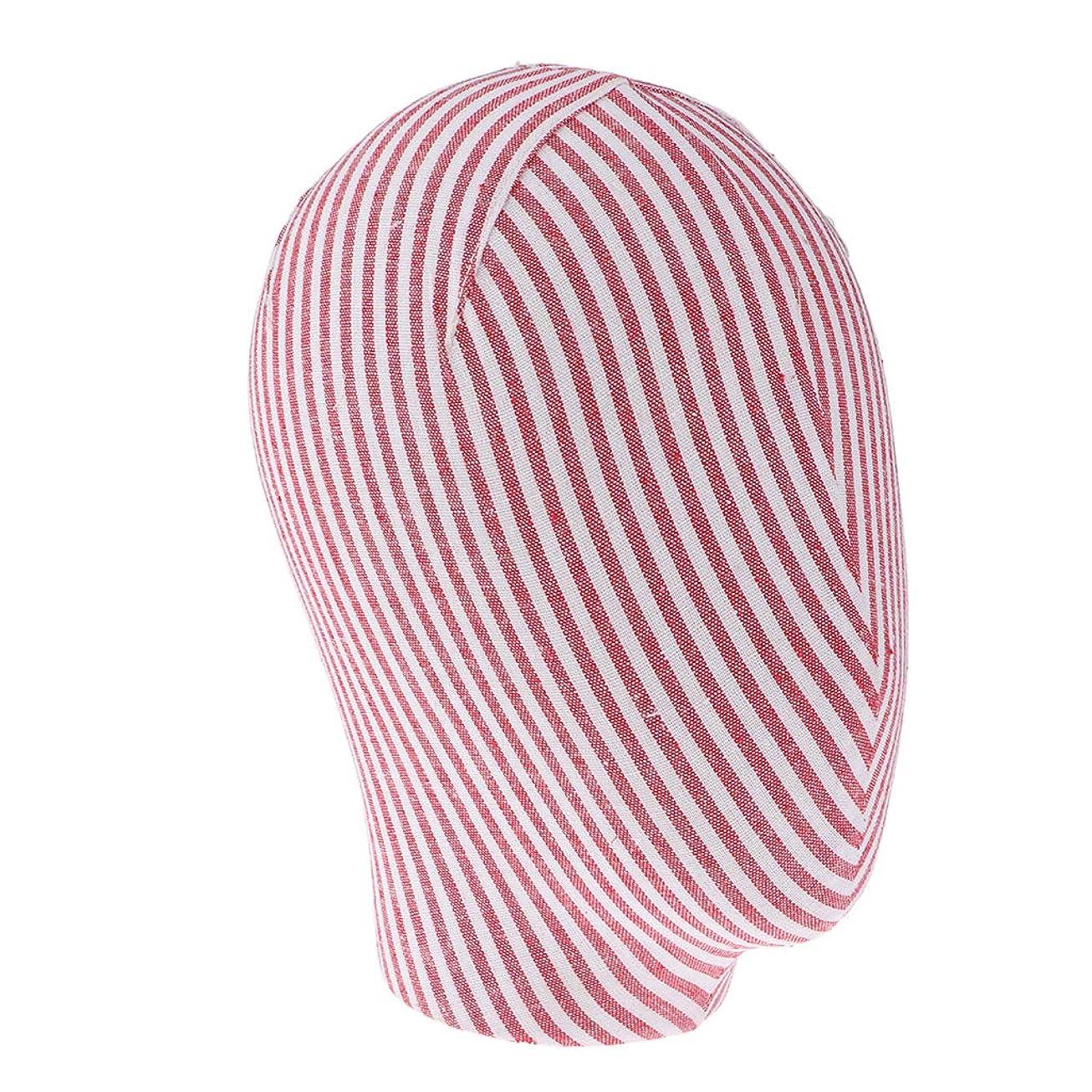 湿原コア頭痛キャンバス マネキンヘッド モデル かつら ジュエリー ラック 3色選べ - 赤