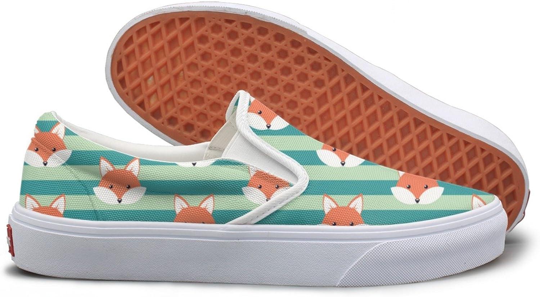 Cute Cartoon Fox Decals Sneaker Women Walking