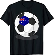 Australian Flag On Soccer Ball | Australia Football Jersey T-Shirt