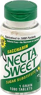 Necta Sweet Saccharin Tablets, 1-Grain, 1000 Tablet Bottle