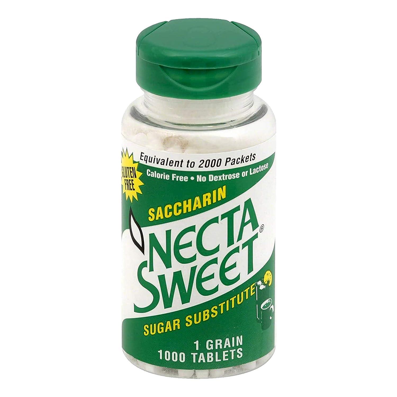 Necta Sweet 1-Grain Saccharin Tablets - Zero-Calorie Sugar Subst