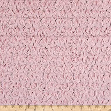 Shannon Minky Luxe Cuddle Frosted Rose Crystal Pink Fabric by the Yard