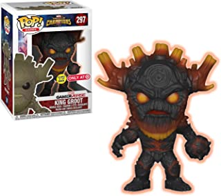Funko King Groot [Glow-in-Dark] (Target Exclusive): Marvel - Contest of Champions x POP! Marvel Vinyl Figure + 1 Official Marvel Trading Card Bundle [#297 / 26845]