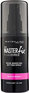 Maybelline New York Facestudio Master Fix Wear-Boosting Setting Spray, Translucent, 3.4 fl. oz.