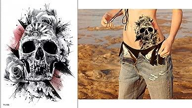 Doodshoofd tattoo nep tattoo bovenarm tattoo festi...