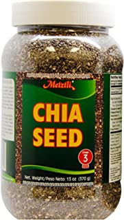 Metztli Chia Seeds, Superfood, Helps You Enrich Your Daily Diet, Source of Fiber, Gluten-Free, Sugar-Free, Sodium-Free, 13...