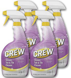 Diversey Crew Shower, Tub and Tile Cleaner 32 oz./946 mL Capped Spray Bottles (Pack of 4)