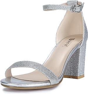 8cd84beaa3a IDIFU Women s IN3 Cookie-MI Open Toe Mid Heel Chunky Block Ankle Strap  Dress Sandals