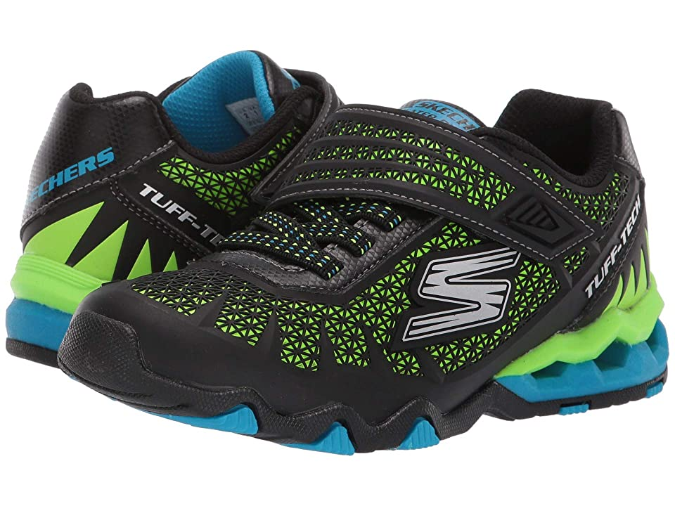 SKECHERS KIDS Hydro-Static (Little Kid/Big Kid) (Black/Lime) Boy