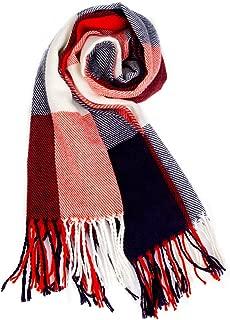 Blanket Scarf for Women Square Plaid Scarf Womens Winter Tartan Scarf Wrap Shawl