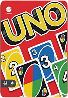 UNO Card Game for Kids and Families in Collectible Tin with 112 Cards and Instructions, Makes a Great Gift for 7 Year Old...