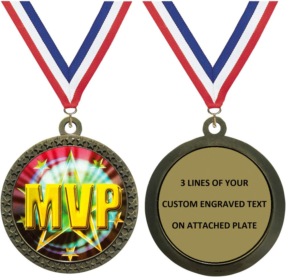 Express Medals 1 to 50 Max 51% Seattle Mall OFF Packs Trophy Engraved MVP Awar Medal Gold