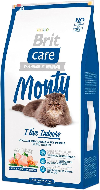 Brit Care Cat Food, Monty I'm Living Indoor, 7 kg