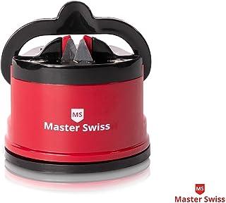 Master Swiss Afilador de Cuchillos Supreme - Todos los Tipos de Cuchillas - Precisión y calibración Fácil, Seguro e Ideal