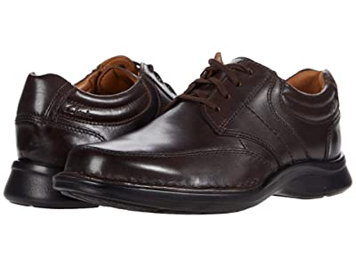 Clarks Kempton Lace (Dark Brown Leather) Men