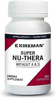 Kirkman Super Nu-Thera® w/o Vitamins A and D - Hypoallergenic || 360 Vegetarian Capsules || Multi Vitamin || Provides high...