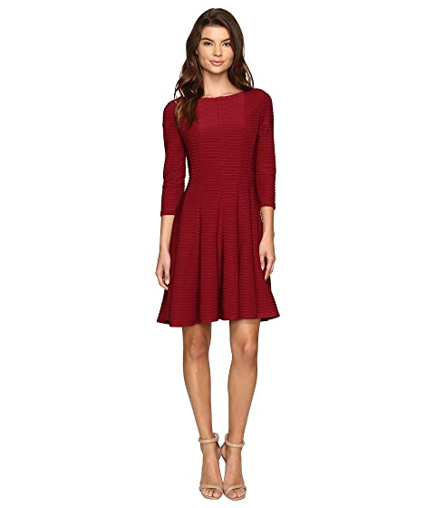 Christin Michaels Andrea 3 4 Sleeve Fit And Flare Dress At 6pm