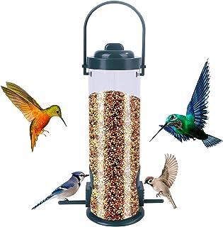 Bird Feeder,Hanging Wild Birds Feeder with 2 Feeding Ports,Waterproof Outdoor Hanging Bird Feeder for Garden Yard Outside ...