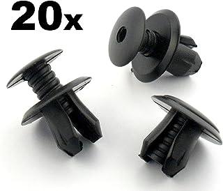 Clips und Klammern FCP 0148x0020 Rand Trimm Klipse Schwarz 20 Stücke