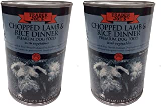 Trader Joes Premium Dog Food Chopped Lamb and Rice Dinner 2 Cans