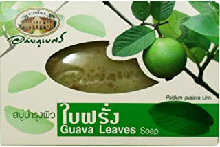 Guava Leaves Herbal Soap Anti-bacterial and Vitamin E Antioxidant Net Wt 100 G (3.53 Oz.) Abhaibhubejhr Brand X 2 Boxes