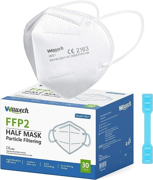 mascherine ffp2 certificate ce mascherine protettive 5 strati traspirante wawech 30 pezzi b08tw9mplx