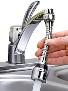 Qualimate Faucet Shower Sprayer Sprinkler Extension Tap Sink for Kitchen Home Flexible Extendable Tap Wash Basin Improveme...