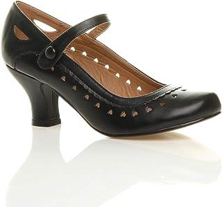 Chaussures Escarpins Babies Classique cœur découpée Femmes Petit Talon Taille