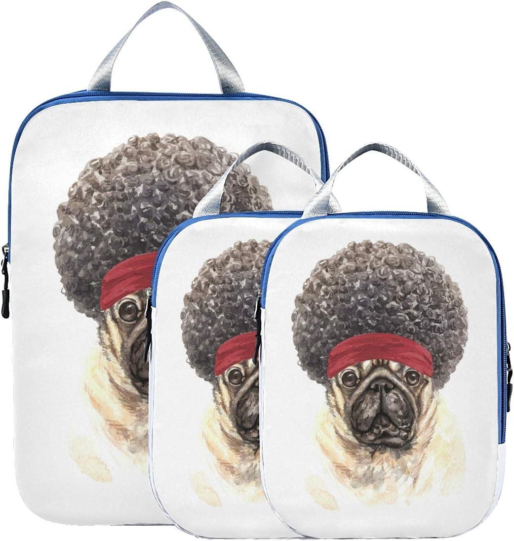 Suitcase Organizer Bags Set Omaha Mall Cute Dog Dreadlock Lugga Puppy Regular store Funny