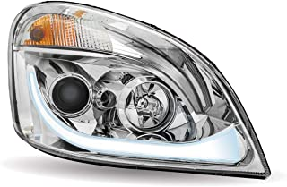 Trux Accessories TLED-H67 2008-2018 Freightliner Cascadia LED Projector Headlight Assembly With LED Strip Right Hand Side