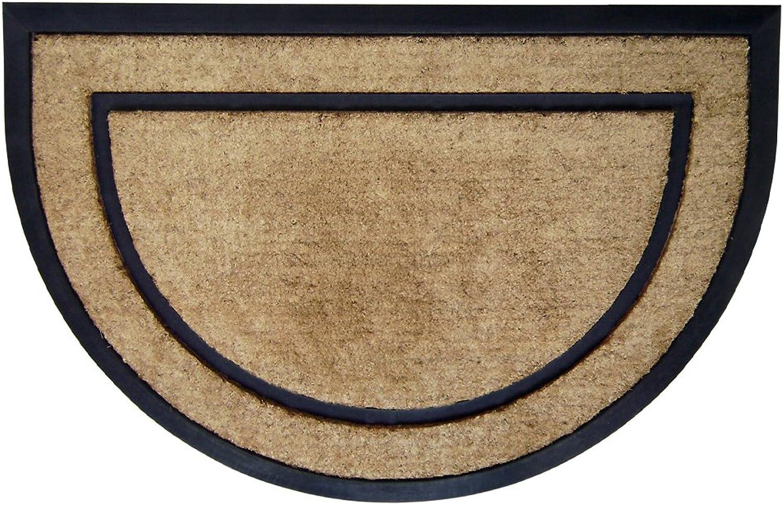 Nedia 18100 Not Applicable Coir Rubber Frame 24  x 36  Mat, Plain Half Round