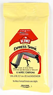 Kiwi Express Clean and Shine Wipes, 15 Wipes, 3 Pack