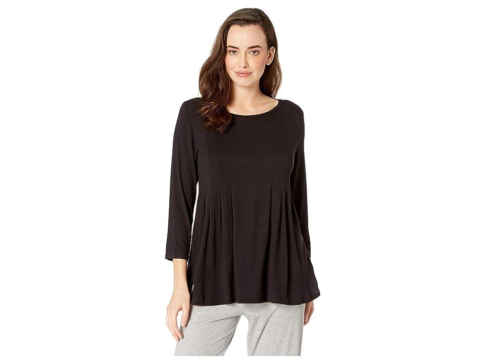 Donna Karan Classic Sleep Top (Black) Women's Pajama