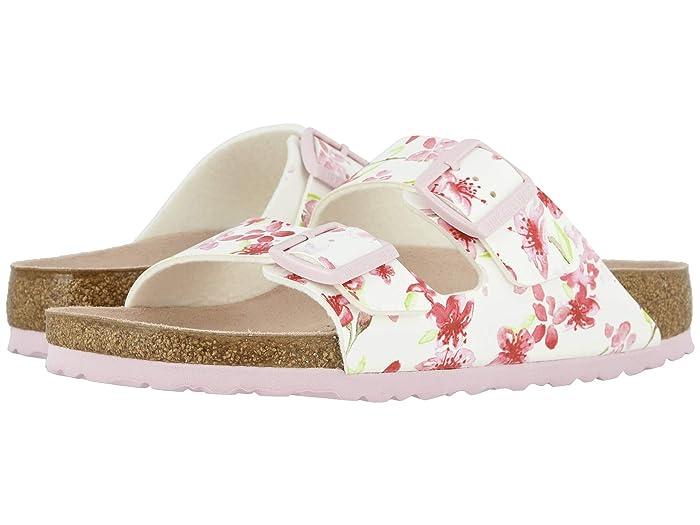 Birkenstock  Arizona (Blossom White Birko-Flortm) Womens Dress Sandals