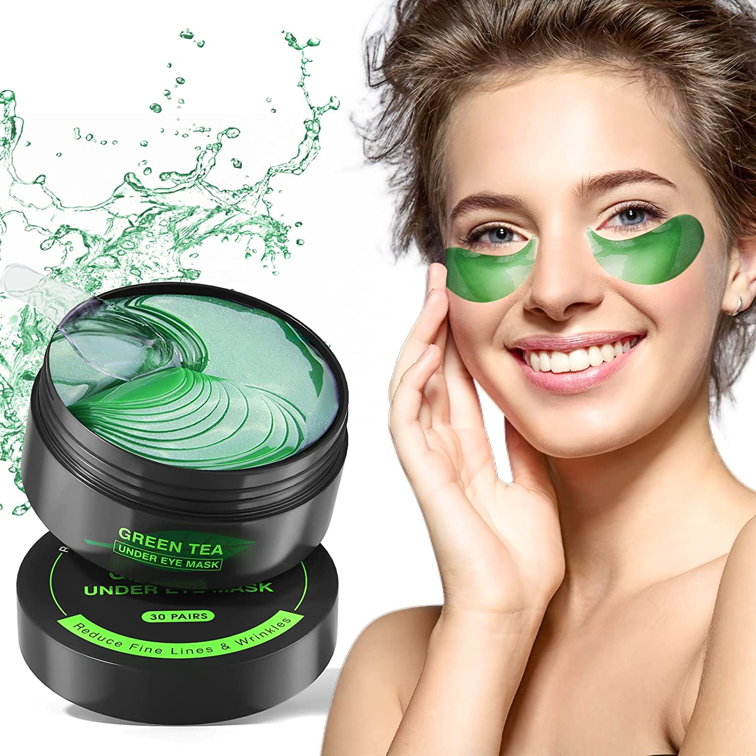 Collagen Under Eye Patches,30 Pairs Under Eye Gel Pads Eye Mask Treatment with Anti-Aging Hyaluronic Acid For Moisturizing & Reducing Dark Circles Puffiness Wrinkles Fine Lines for Women and Men : Beauty & Personal Care