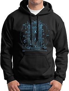 New York Fashion Police Police Call Box Hoodie Vitruvian Da Vinci Hooded Sweatshirt