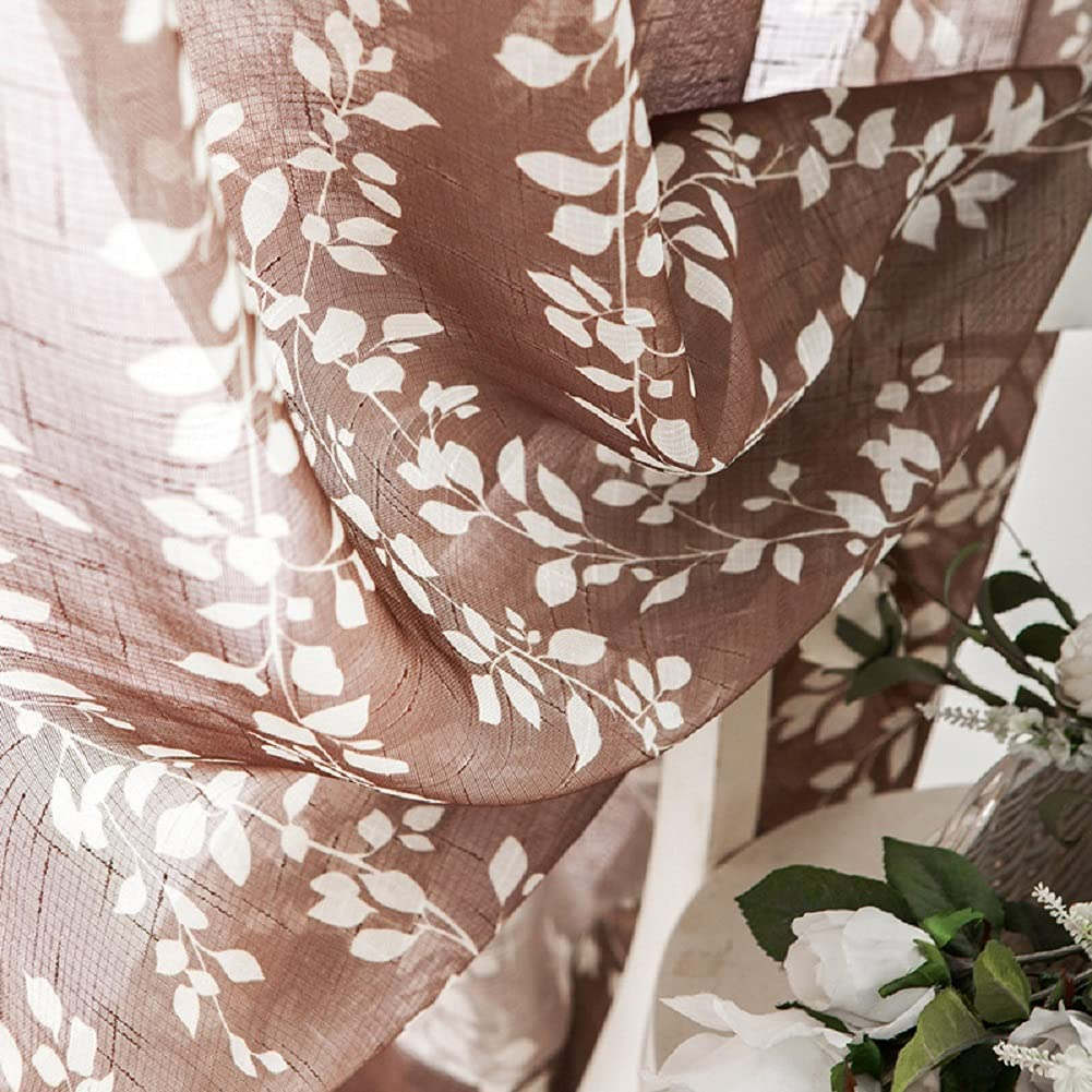 Iuokuby Sheer Semi Curtains Willow Window Easy-to-use Home Genuine Print Decorative