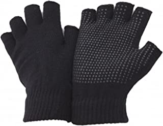FLOSO Unisex Fingerless Magic Gloves With Grip