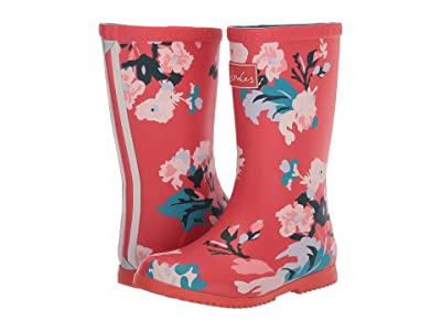Joules Kids Roll Up Welly (Toddler/Little Kid/Big Kid) (Red Floral) Girl