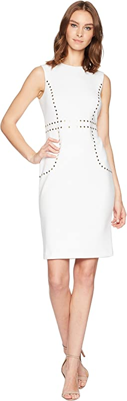 Embellishment Detail Sheath Dress CD8M15LK
