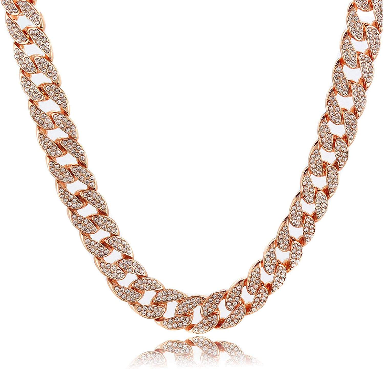 Colorado Springs Mall Shiny Jewelers USA Mens Iced Out Hip Washington Mall Rose CZ Gold Miami Hop Cuba