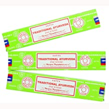 Satya Nag Champa Traditional Ayurveda Incense Sticks - 3 Packs