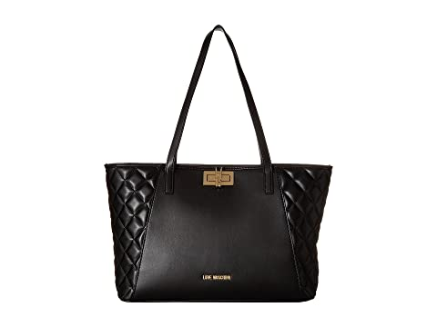 c5ae089b9f7 Clearance Visit Online Cheap Quality LOVE Moschino Fashion Quilted Shopping  Bag Black Sast Sale Online Cheap