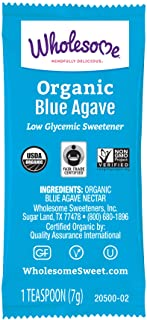Sponsored Ad - Wholesome Organic Blue Agave Nectar Packets, Natural Low Glycemic Sweetener, Non GMO, Fair Trade & Gluten F...