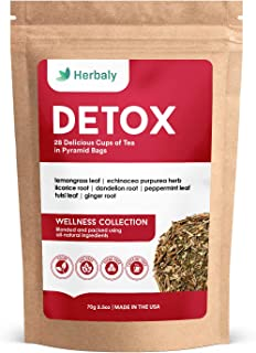 Herbaly Detox Tea - Reduces Inflammation | Antioxidant | Detoxifying | Soothing