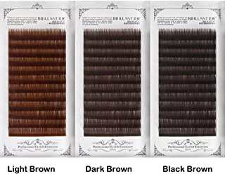 a83090d6564 Amazon's Choice for brown lash extensions · Scala Thickness 0.10mm C Curl  Light Brown/Dark Brown/Black-Brown False