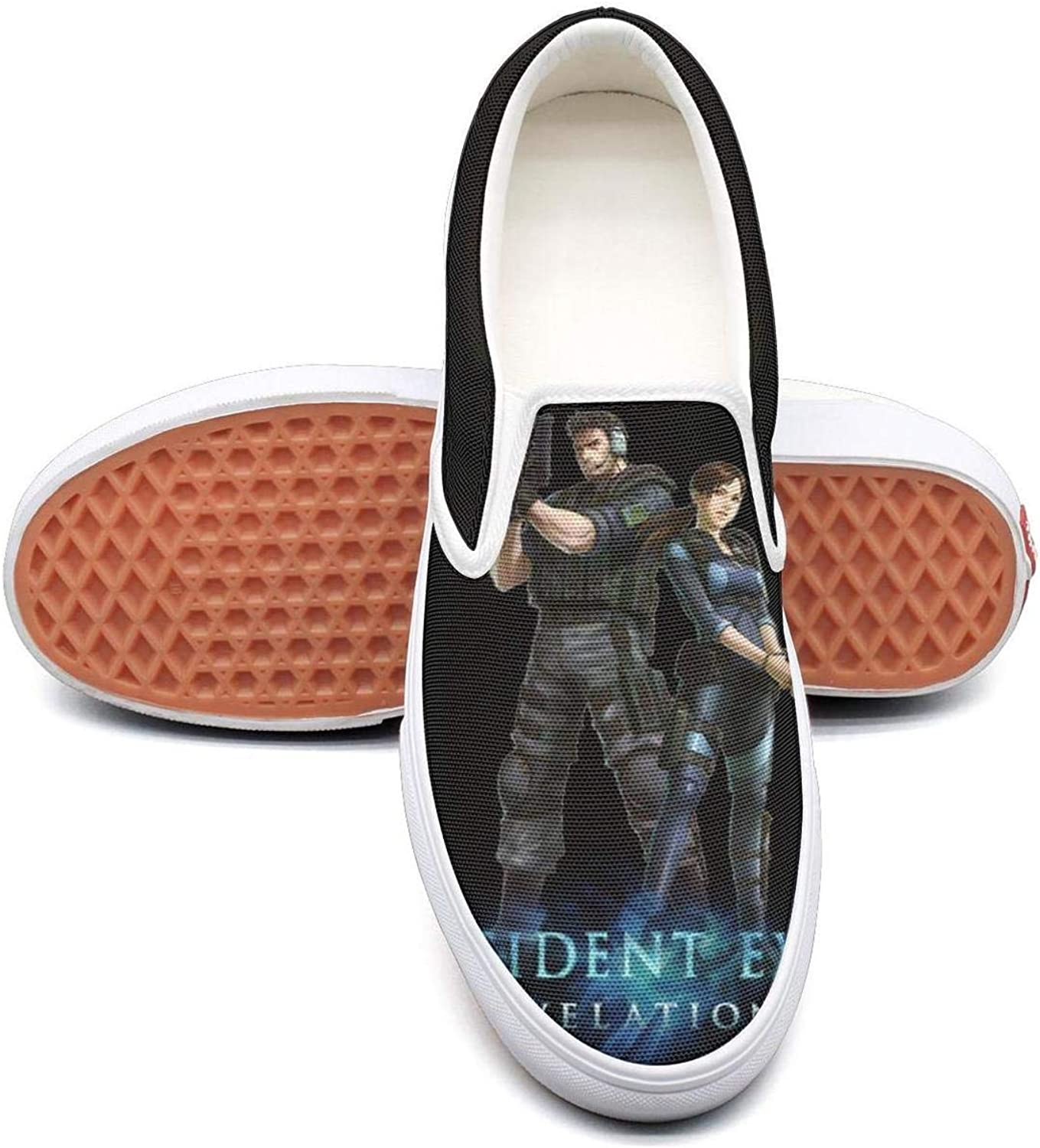 RESIDENT-EVIL-R.P.D- Classic Women Canvas Slip-Ons Loafer shoes Sneaker