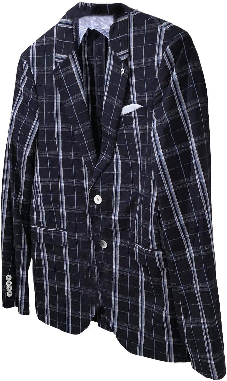 ZARA MAN Tailoring Men's Navy/White Plaid Cotton Slim FIT Partially Lined 2 Button Blazer Sport Coat US 36
