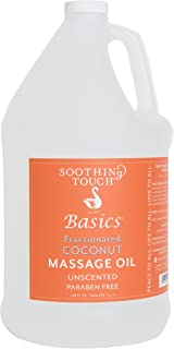 Soothing Touch Basics Fractionated Coconut Massage Oil, Unscented, 128 Ounce